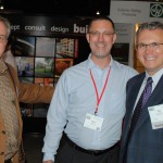 Emmett Lifesey, Tim Colley, and Paul Battaglia enjoy time in the exhibit hall
