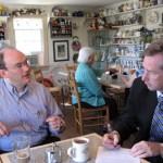 Member Architect Bill Brown, AIA met with legislator David Bulova in June 2010