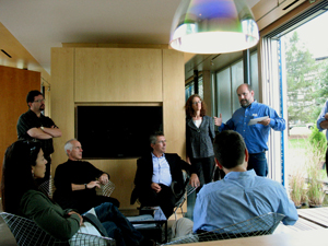 VSAIA board members tour Va. Tech's campus and the award-winning Lumenhaus