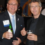 Current VSAIA president Ed Gillikin and past president Mark McConnel catch up at Connections