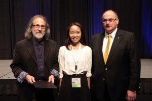 Jury Chair, Chuck Swartz, AIA, 2016 AIA Prize winner Xi Han, University of Virginia, and AIA Virginia President, Nick Vlattas, AIA
