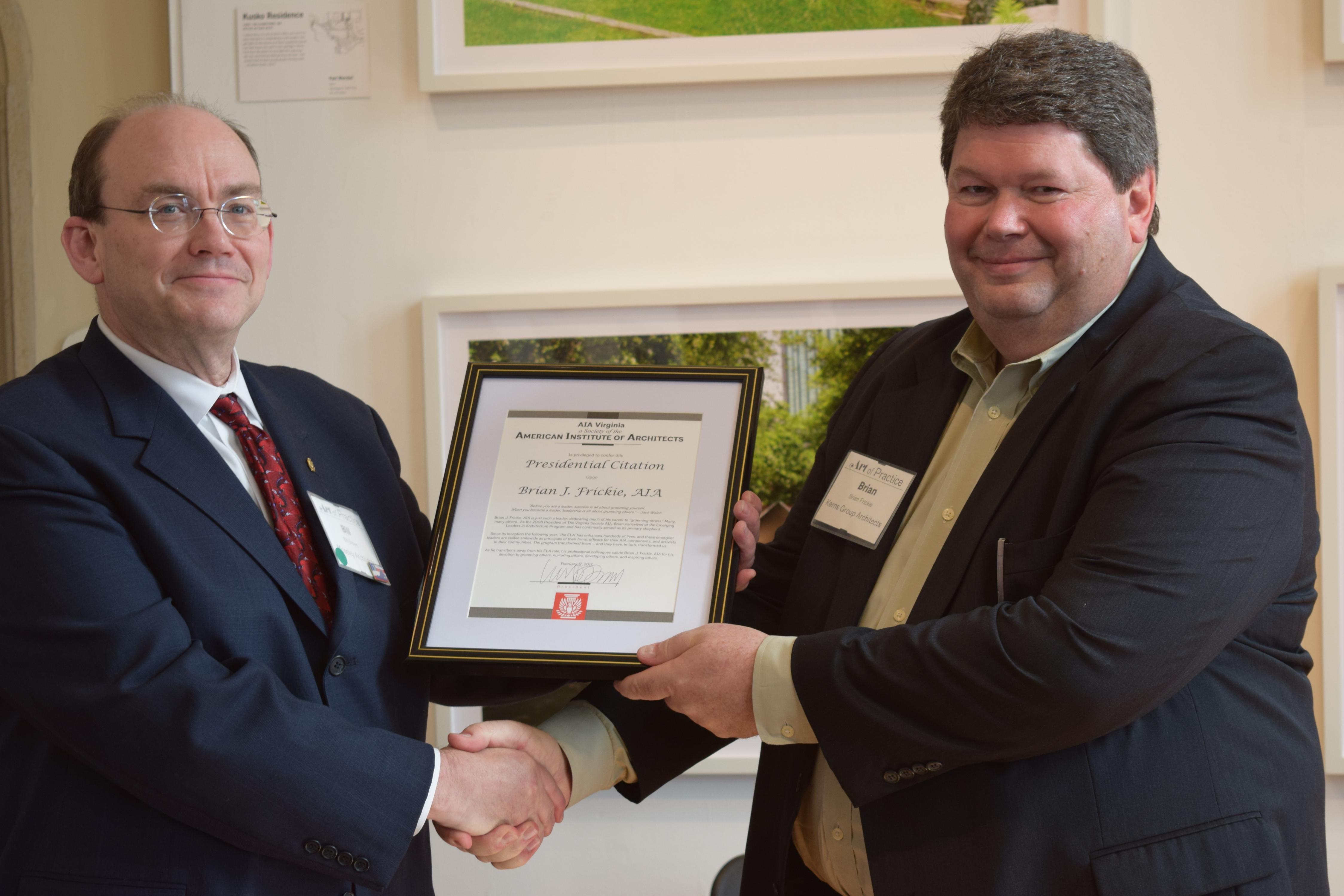 Frickie Awarded Presidential Citation