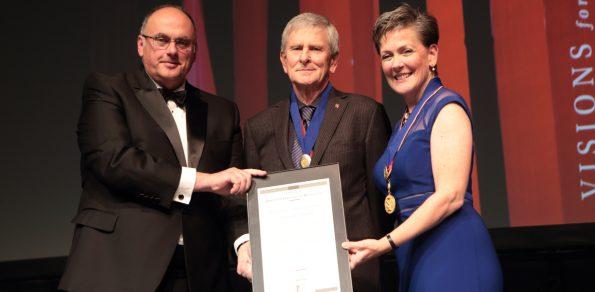 2016 William C. Noland honoree Robert J. Dunay, FAIA with Nick Vlattas, AIA and Helene Dreiling, FAIA