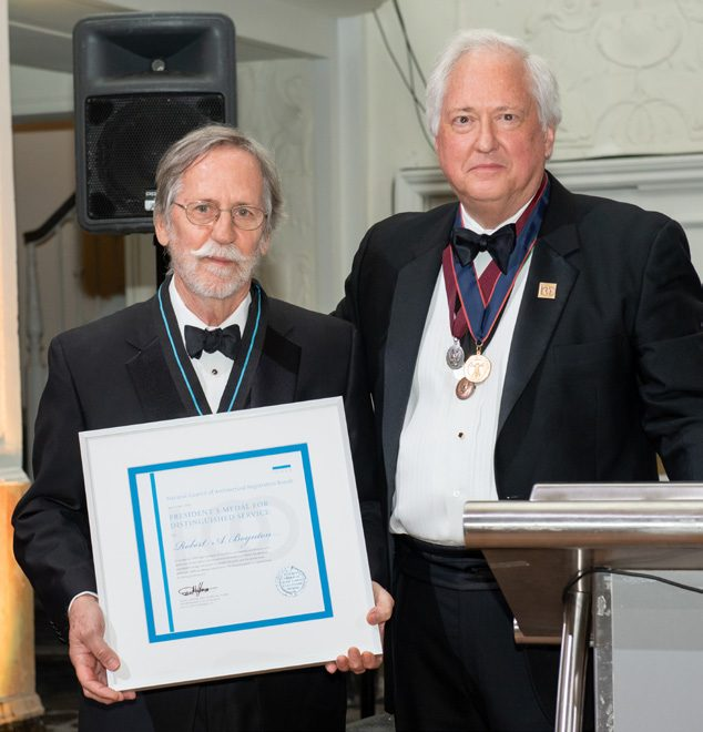 Boynton Awarded President's Medal for Distinguished Service