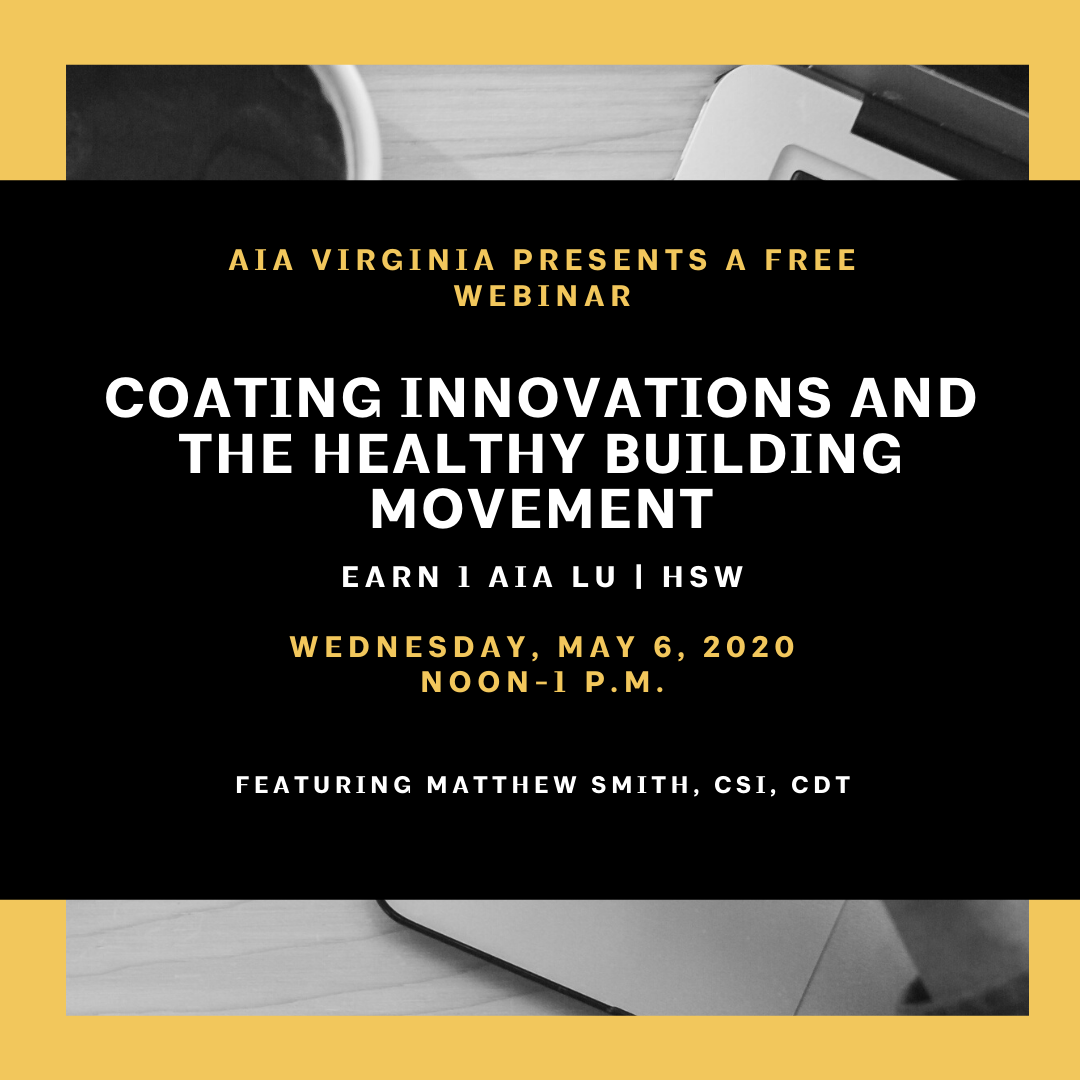 Webinar: Coating Innovations and the Healthy Building Movement