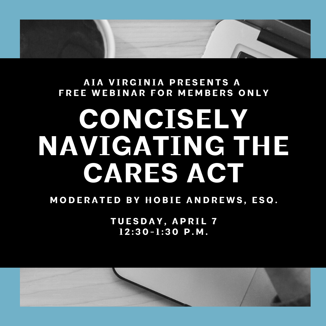 Webinar: Concisely Navigating the CARES Act