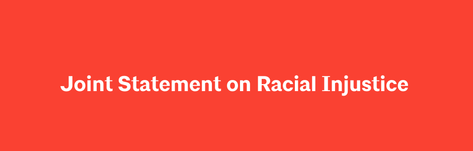 Joint Statement on Racial Injustice Graphic
