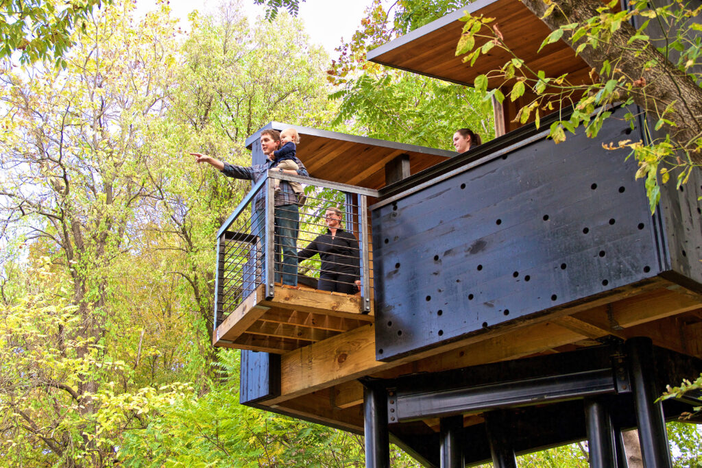 New River Train Observation Tower  by students and faculty at Virginia Tech.