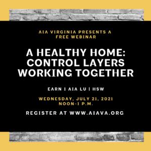 A Healthy Home webinar graphic